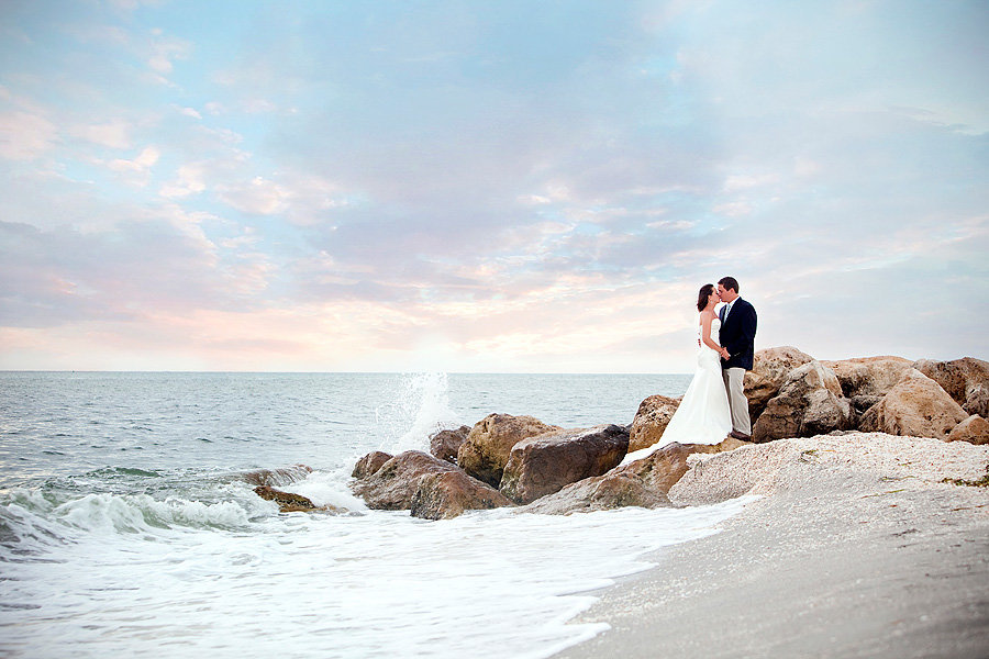 siesta key wedding sunset