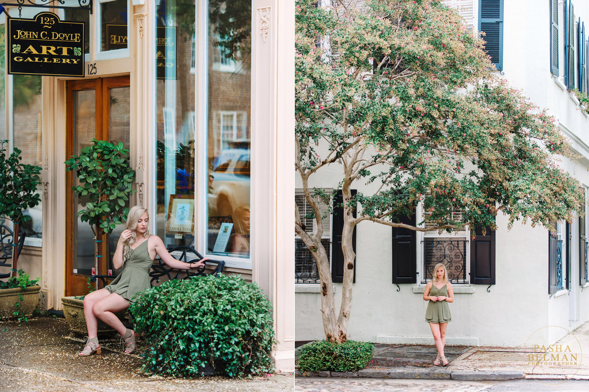 Charleston Downtown Historic District Senior Photos
