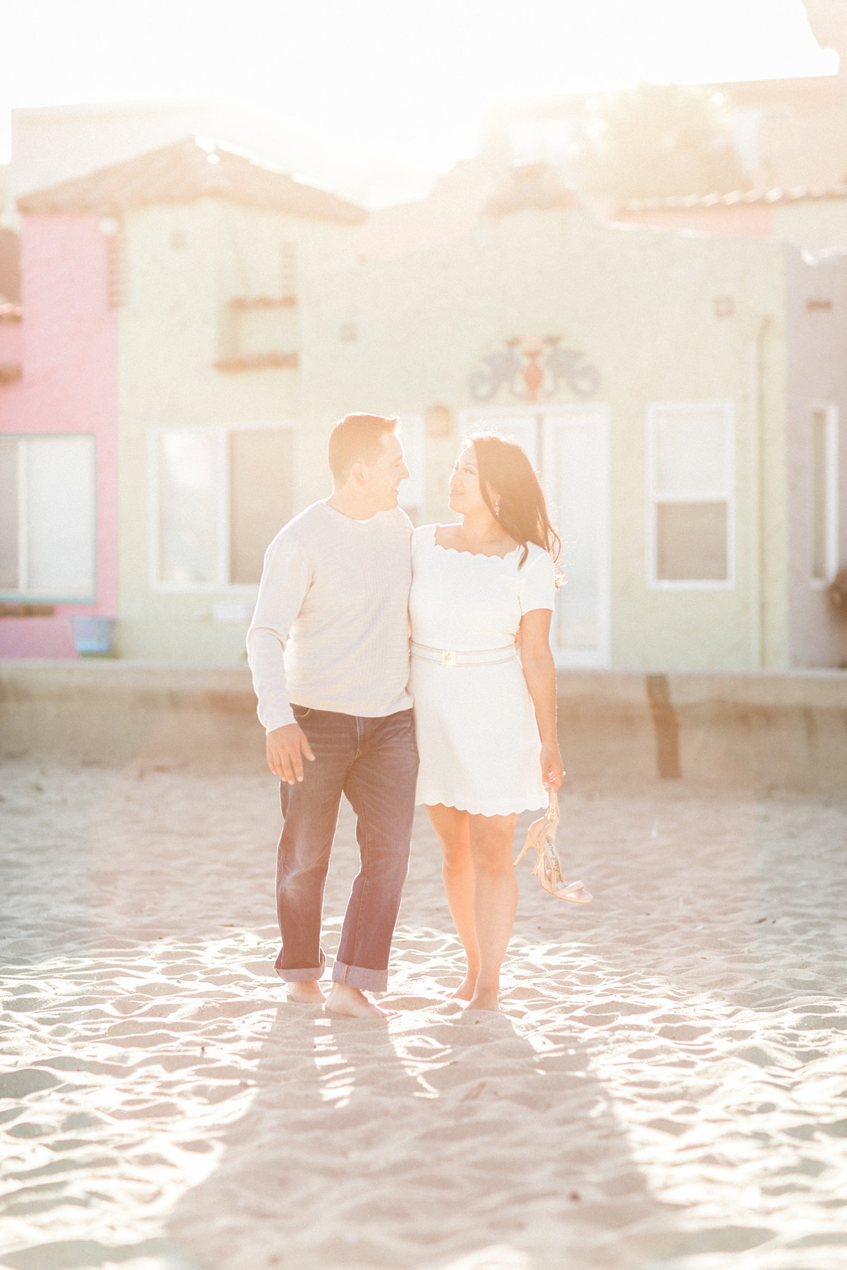 Hazy Natural Light Beach Engagement