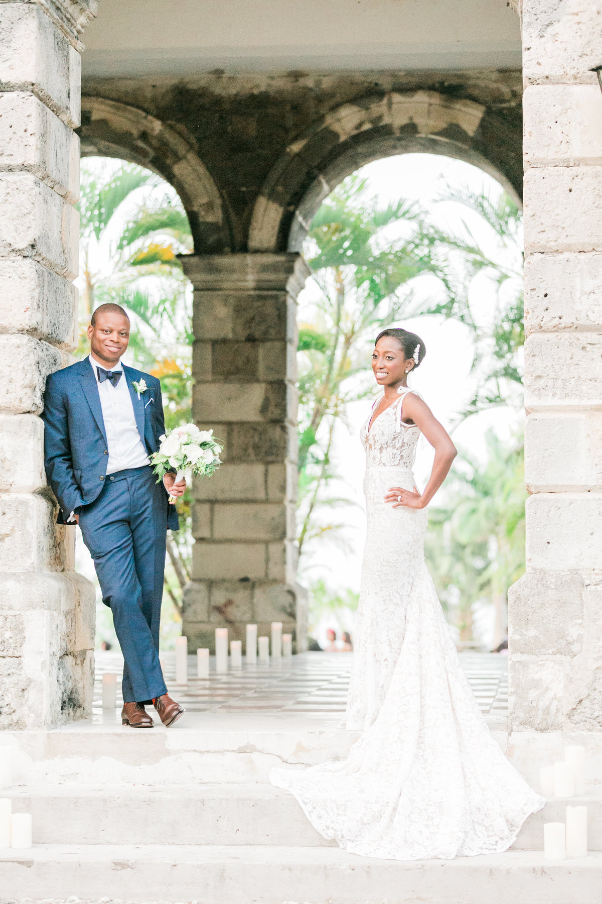Bridal portraits at Codrington College Barbados