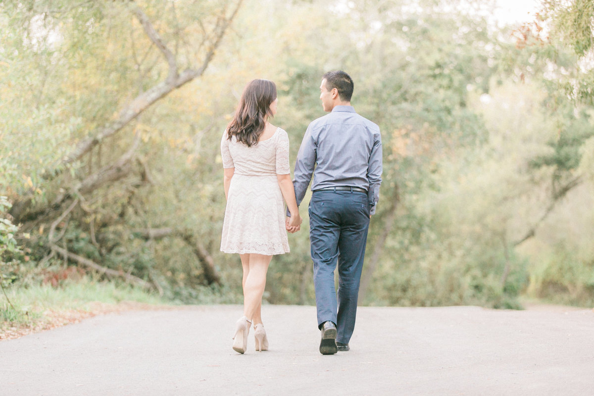 Wooded Park Engagement Photos