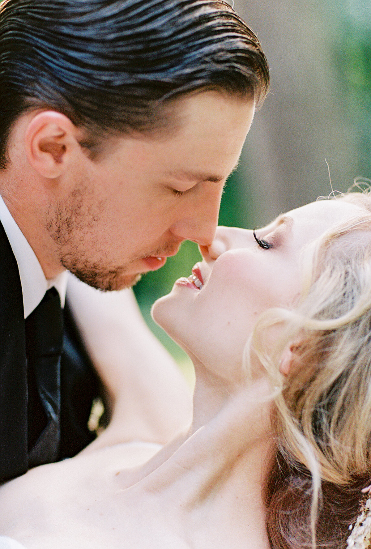 Bride and Groom about to kiss Butler Mansion | Pittsburgh Wedding Photographer | Anna Laero