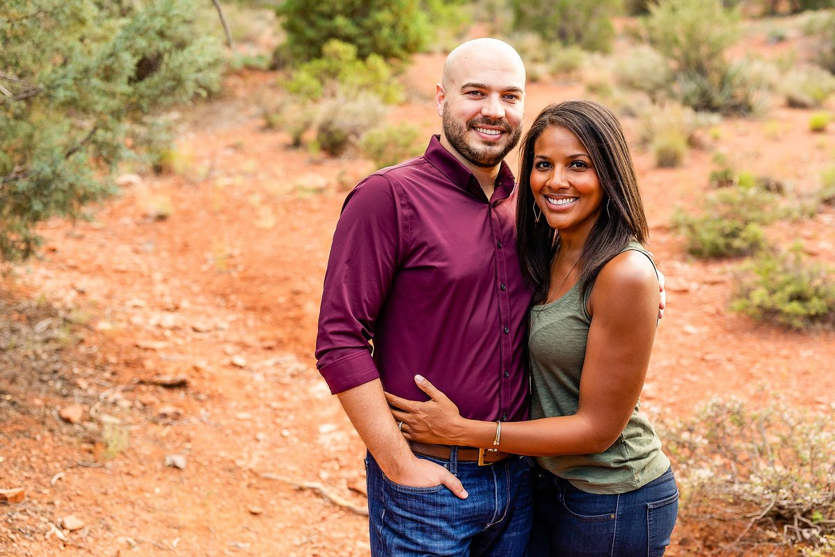 Monica + Austin - Sedona Engagement Session - Cathedral Rock - Lunabear Studios_0178