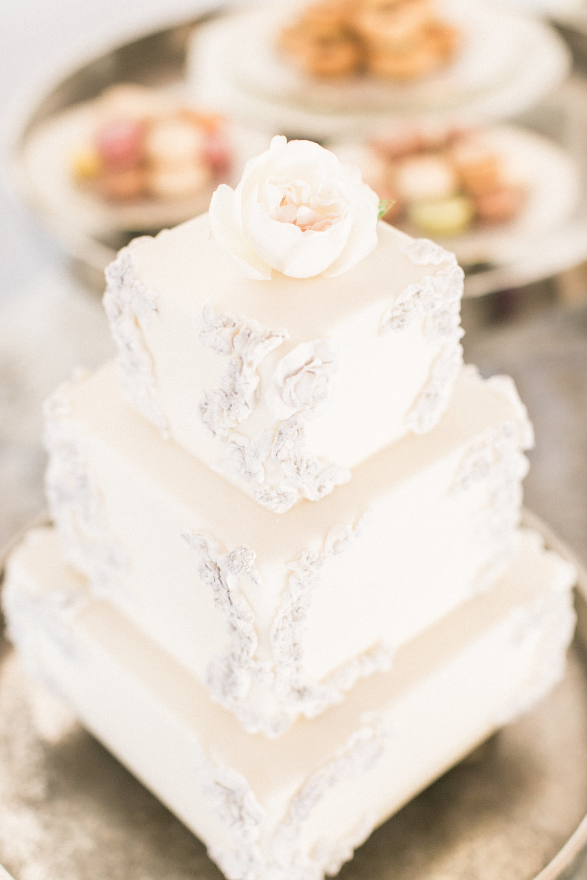Three Tier Wedding Cake - A Spoonful of Sugar