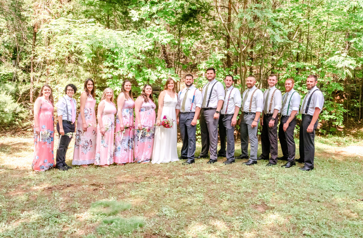 Blue Ridge Mountains Wedding Photography - Rhiannon and Chris - Bride and Groom Parties - Wilmington NC Photographer Team