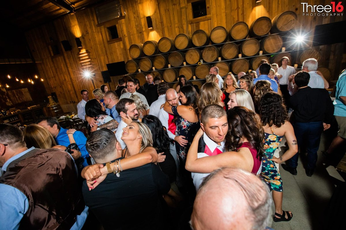 Peltzer Winery Wedding Venue Photography Temecula Califronia Dance Floor