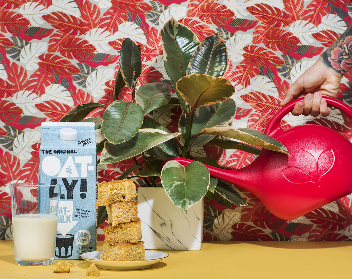 oatly oat milk still life photography