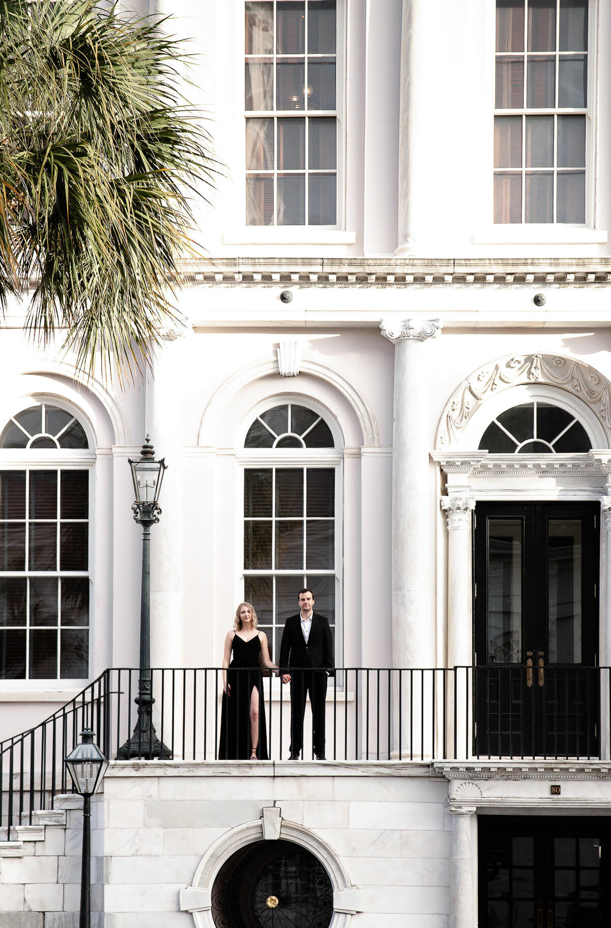 Charleston City Hall couple holding hands