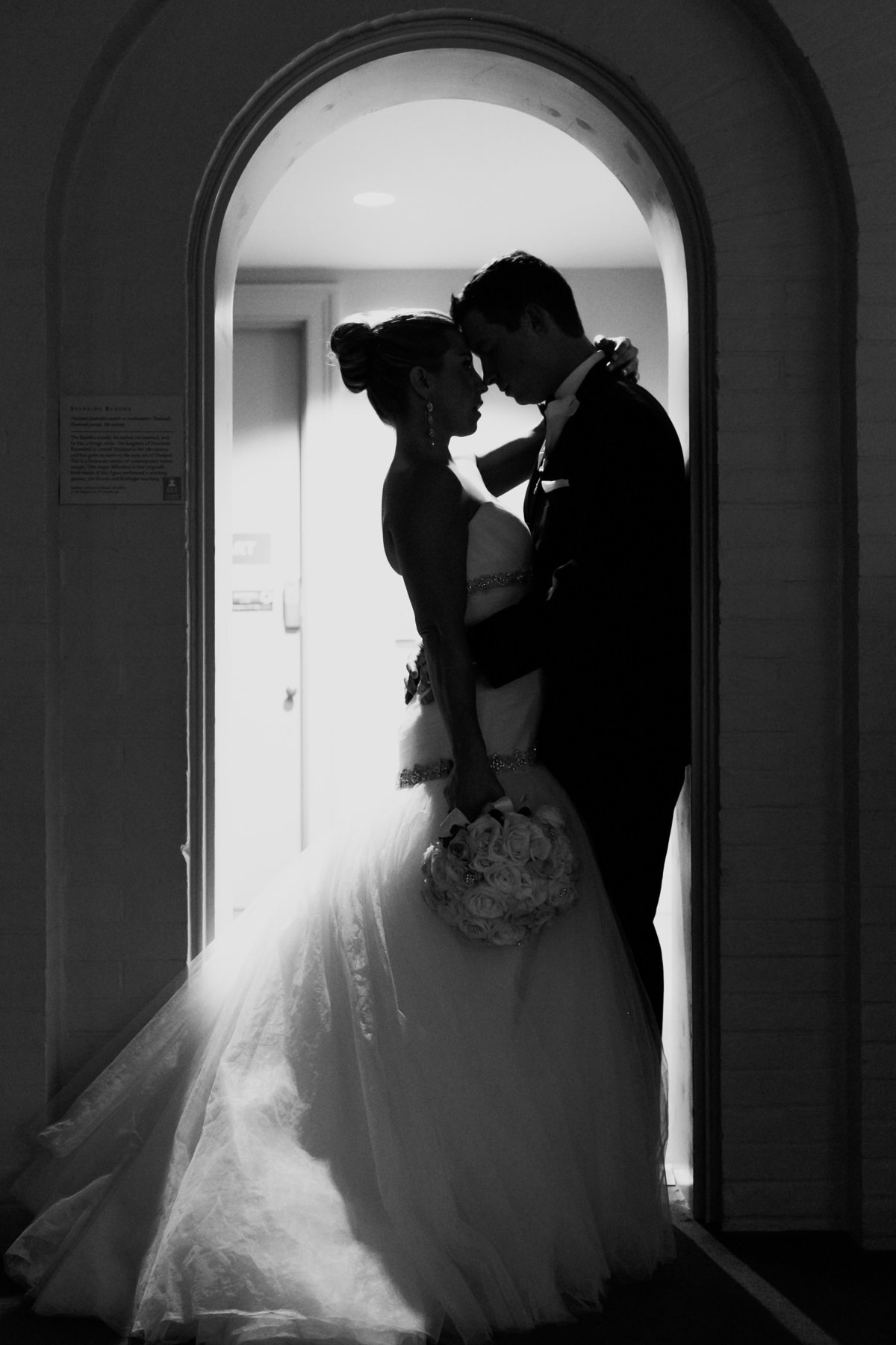 Silhouette Photo at Walters Art Museum Wedding