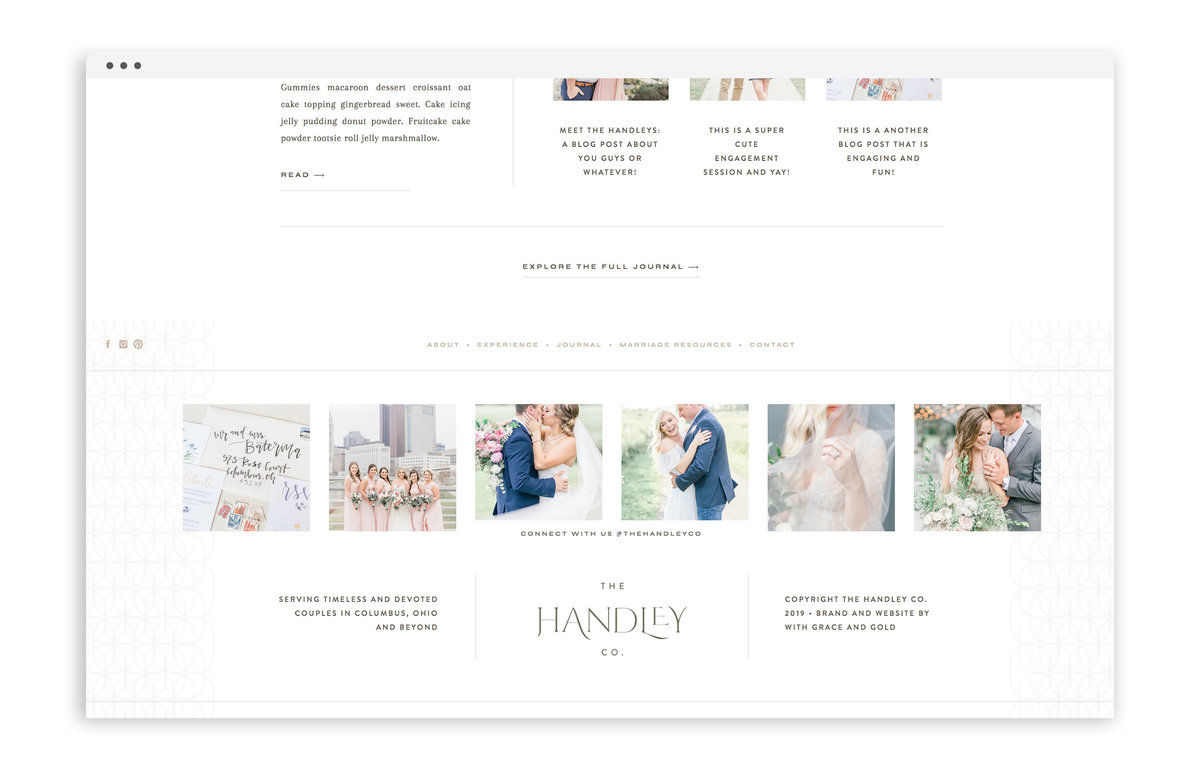 Tristan Handley - The Handley Co - Custom Brand Logo and Showit Website Design by With Grace and Gold - 25