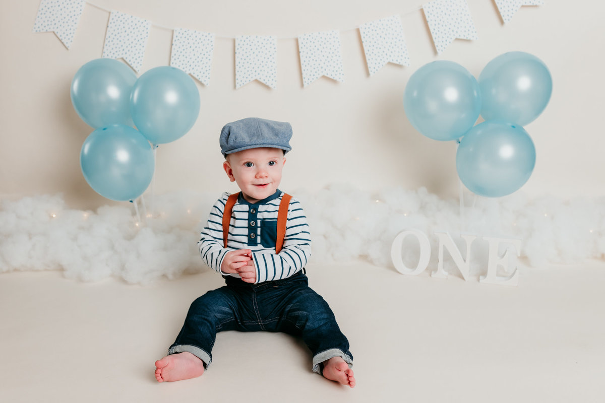 Robbie One Year Photos Cake Smash and Splash Session Valerie Clement Photography Boise, ID Photographer-1