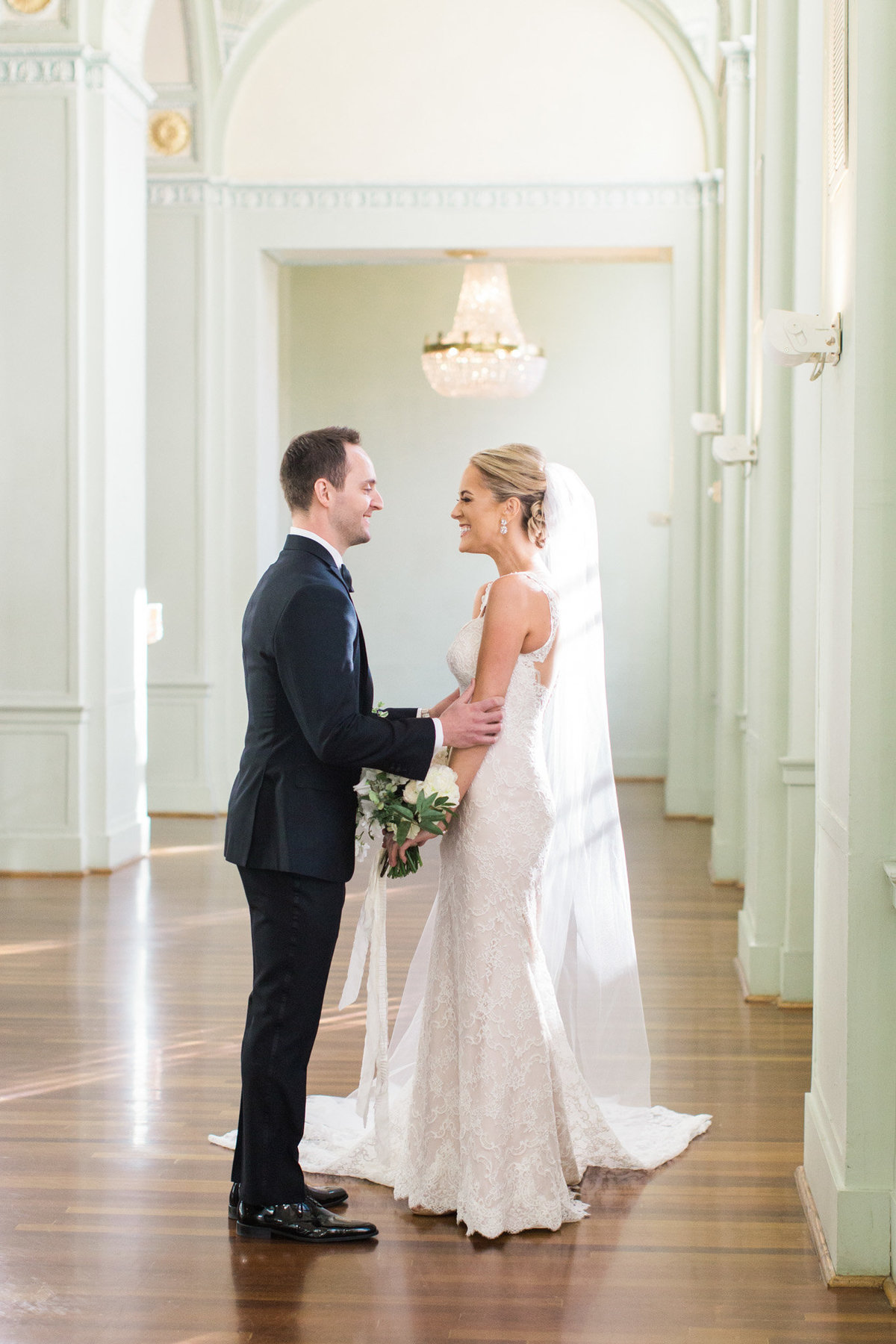 Rebecca Cerasani captures all of the emotion at a first look in the Georgian ballroom at the Biltmore Atlanta.