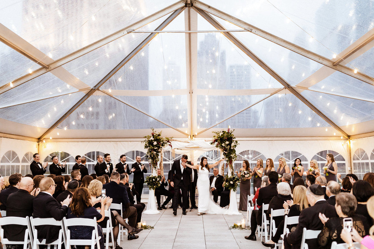 Loews-Chicago-Rooftop-Wedding-Ceremony