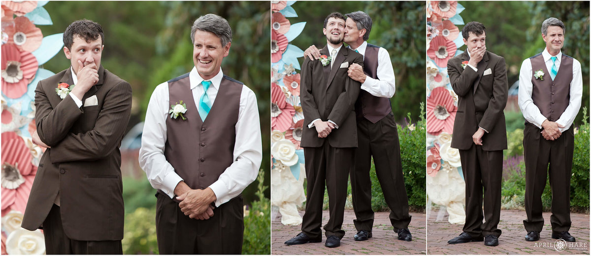 First look at Colorado wedding ceremony at the Manor House in Littleton