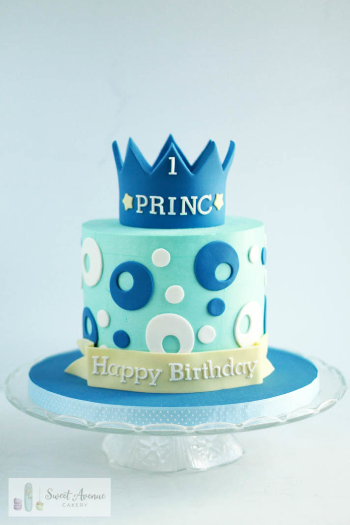 little prince first birthday cake