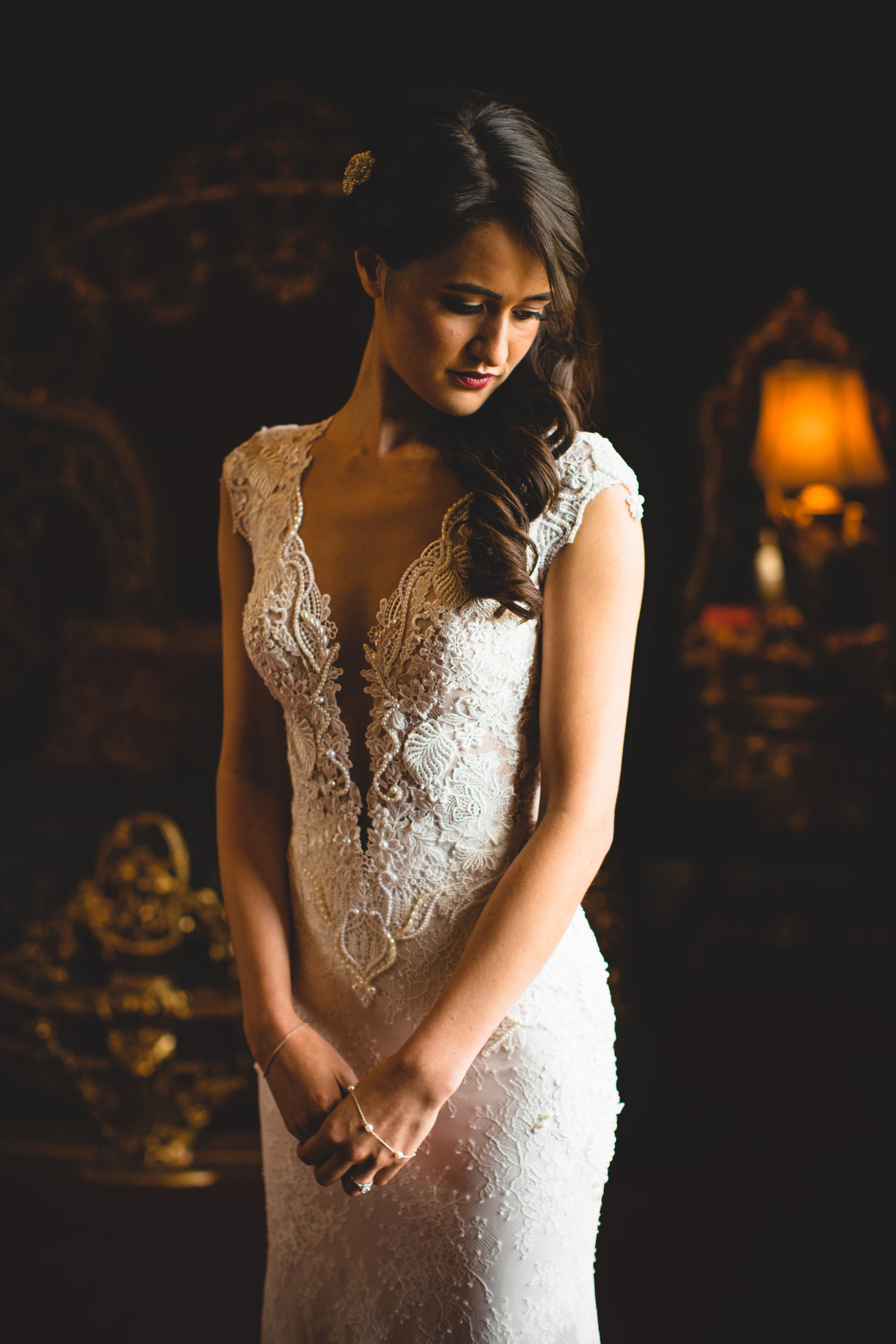 allerton castle lace wedding dress