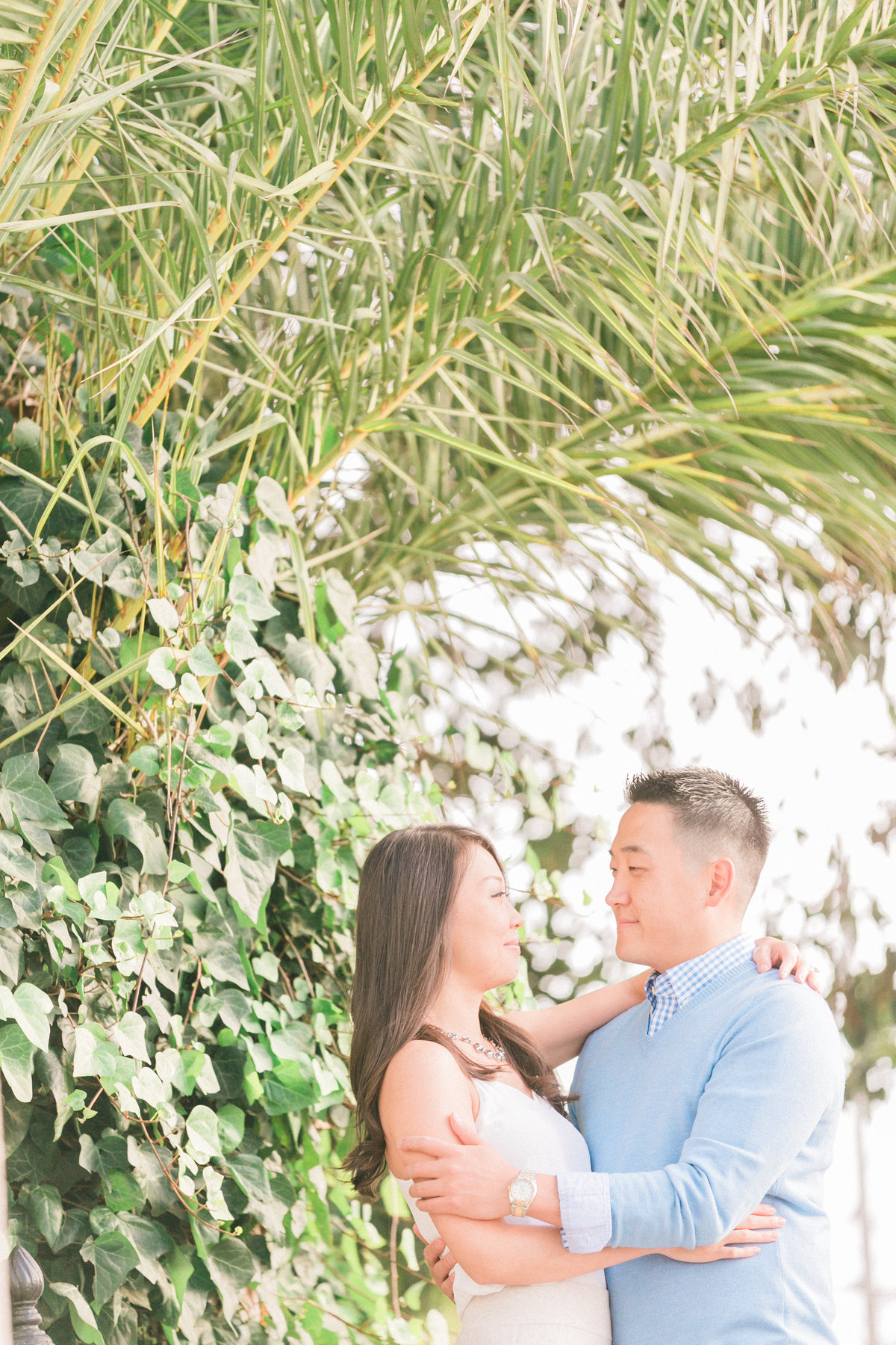 Palm Tree Inspired Engagement Photos