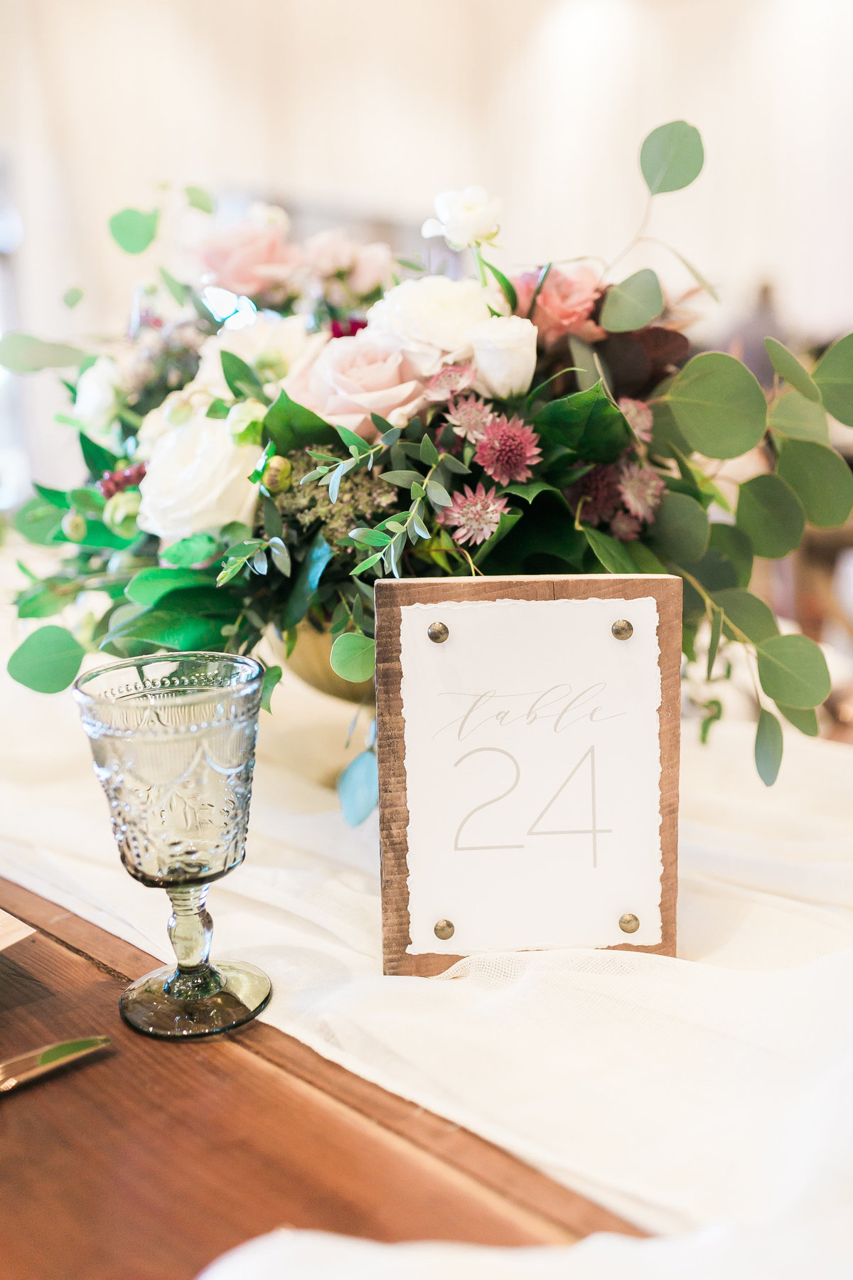 wood table number for Lake Tahoe Wedding