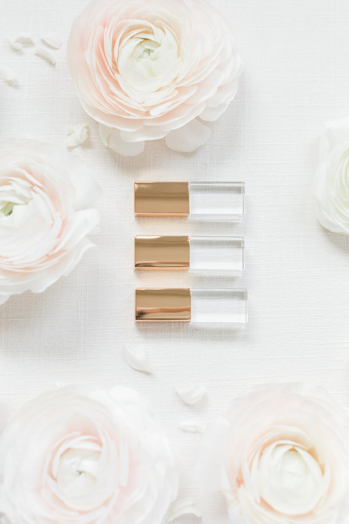 Gold Crystal USBs with flowers