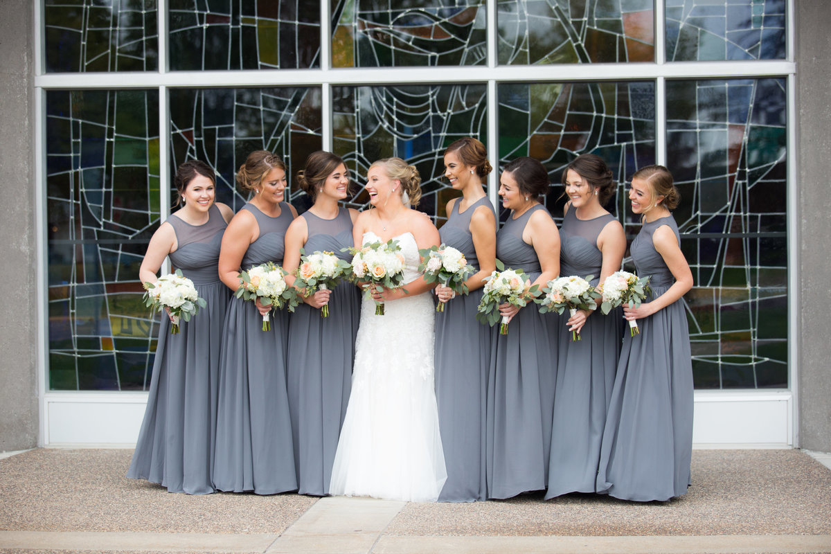 Davenport Wedding party bridesmaids