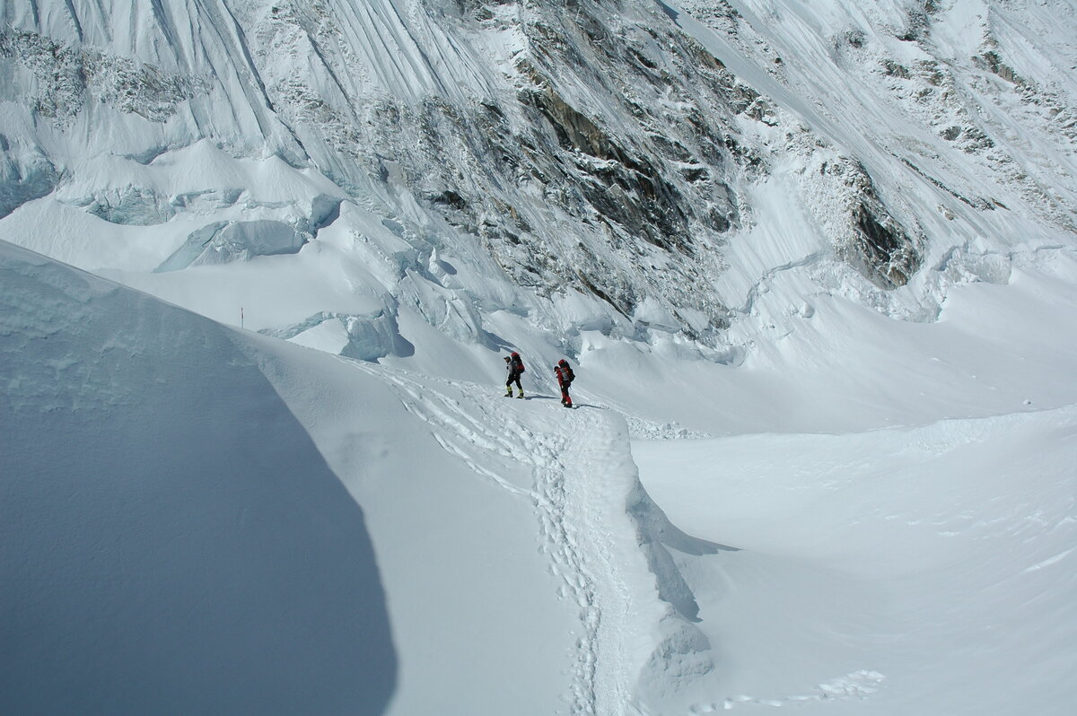 Harry Farthing and Rhys Jones on Mt. Everest