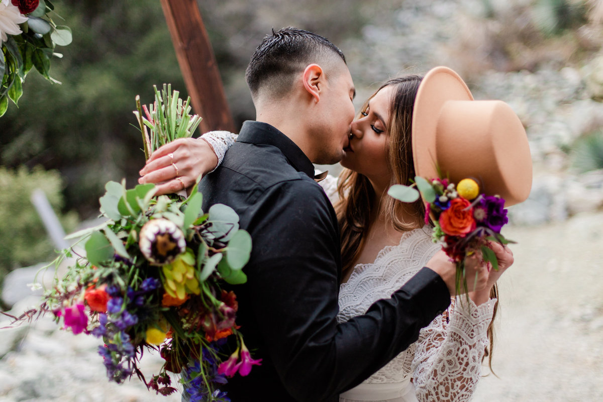 Mt. Baldy Elopement, Wildflower Bouquet, Mt. Baldy Styled Shoot, Mt. Baldy Wedding, Forest Elopement, Forest Wedding, Boho Wedding, Boho Elopement, Mt. Baldy Boho, Forest Boho, Woodland Boho S&W-43