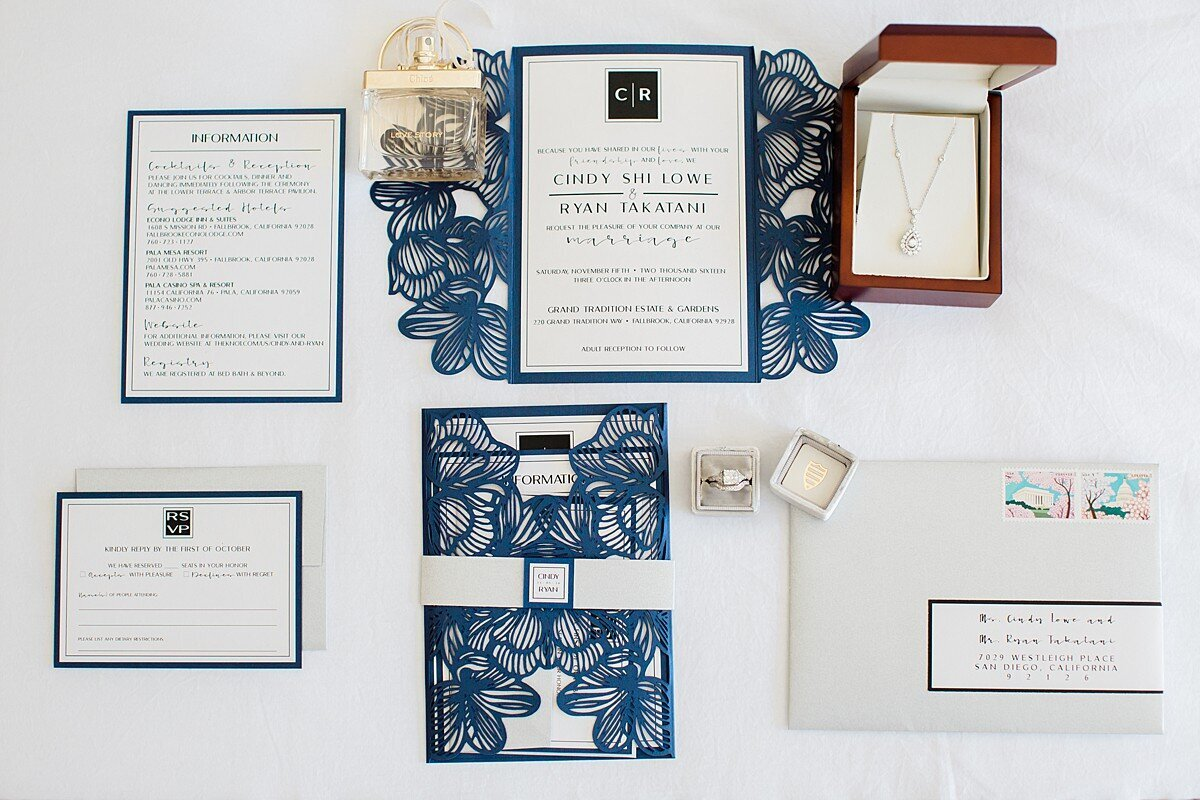 Luxury wedding invitation suite. Destination wedding in Italy. Grand Tradition Wedding photography.