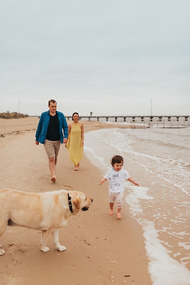 Family-Photographer-Melbourne-toddler-dog-port-melbourne-beach