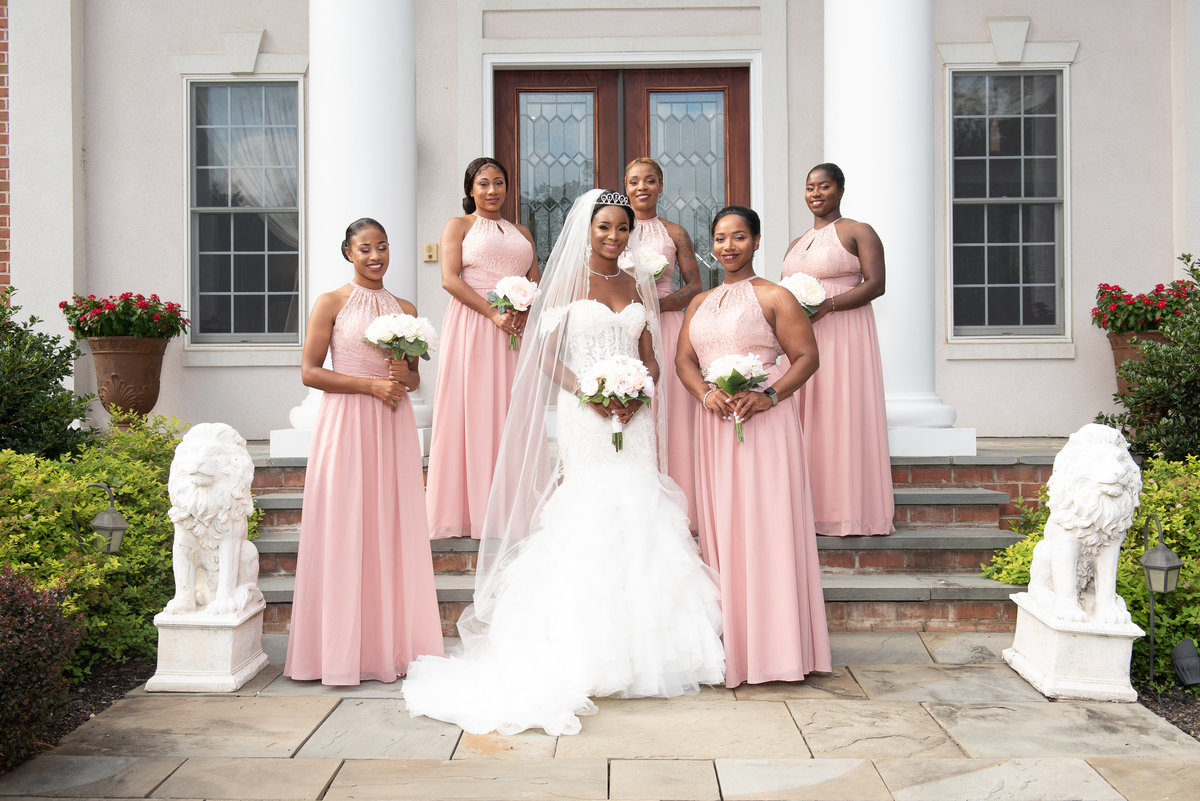 Summertime Bride and Bridesmaids Baltimore county
