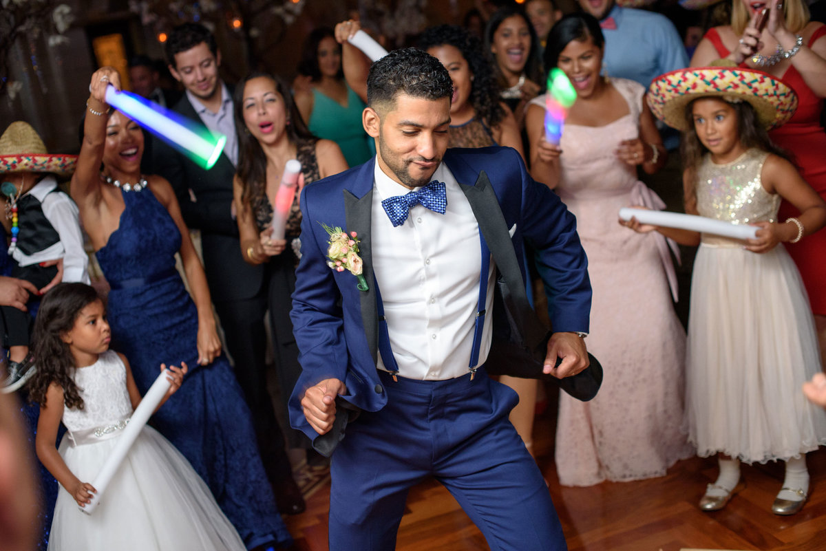 groom dancing at The Sands
