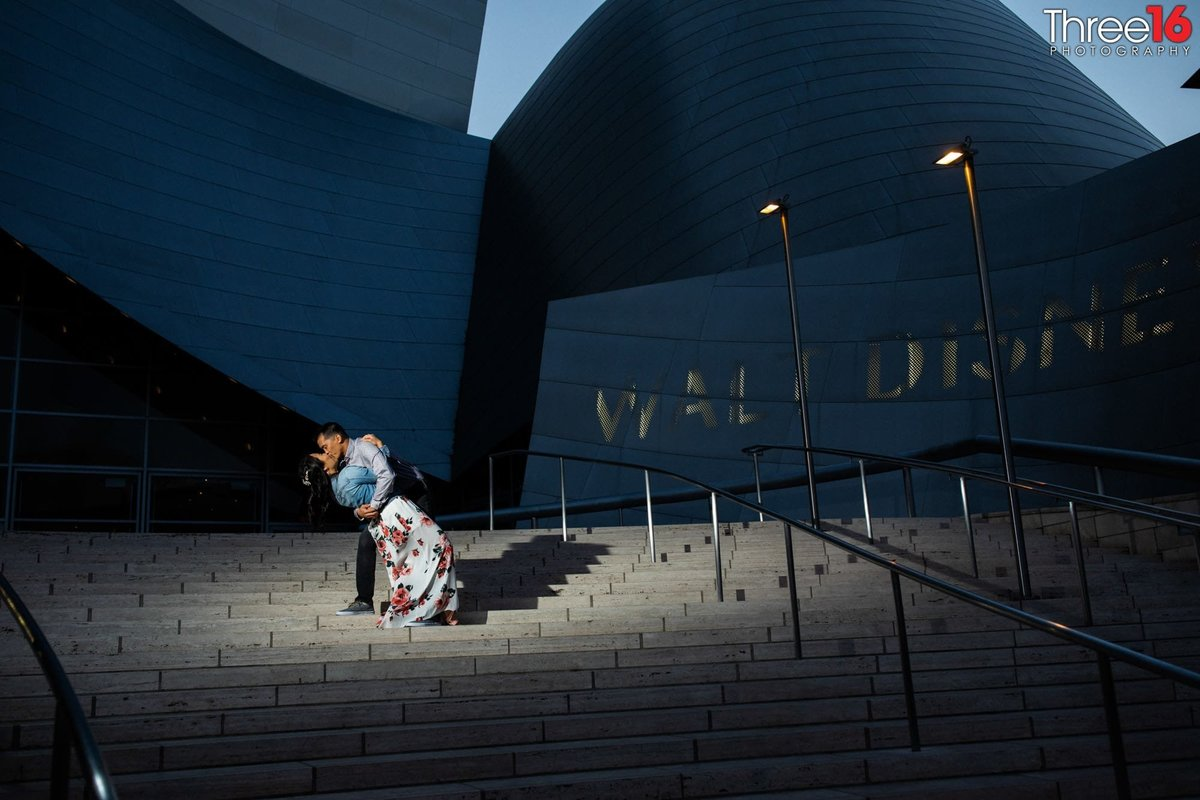 Walt Disney Concert Hall Engagement Photos Los Angeles County Weddings Professional Photography  Unique