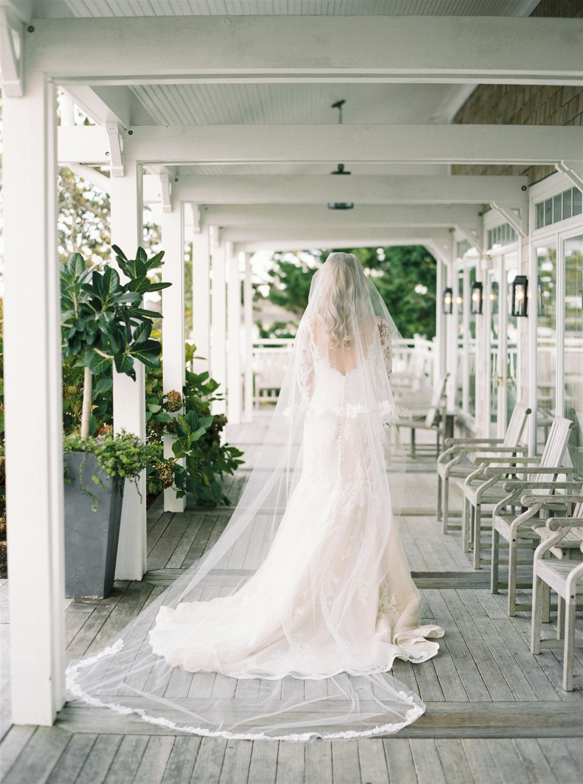 Cathedral length veil for a Cape Cod Wedding by luxury Cape Cod wedding planner and designer Always Yours Events