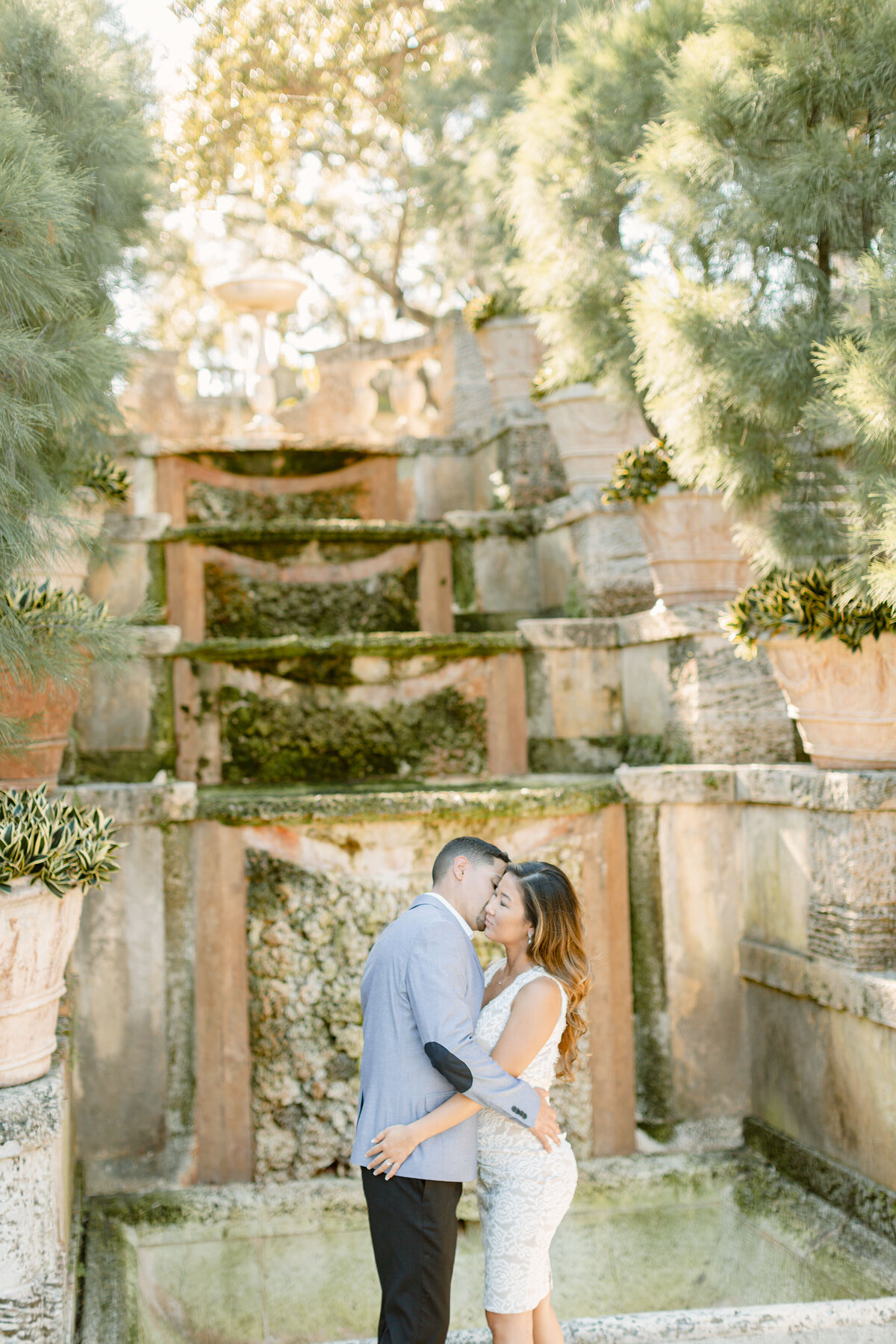 Vizcaya Museum Engagement Photography Session 15