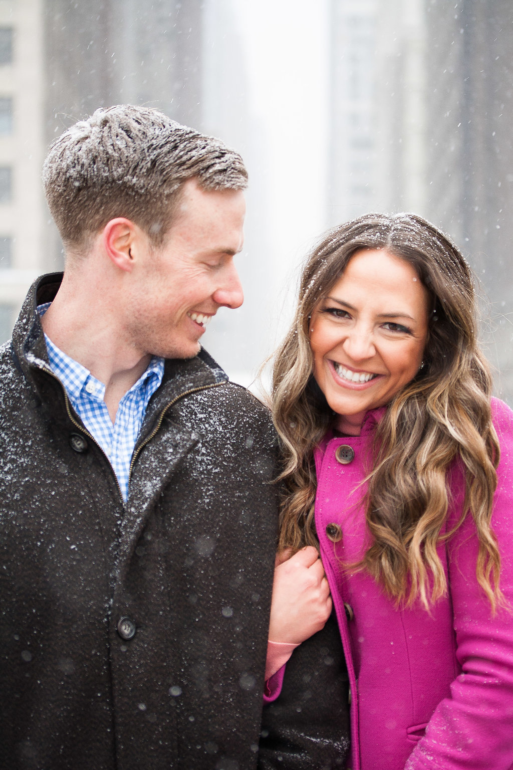 Millennium Park Chicago Illinois Winter Engagement Photographer Taylor Ingles 33