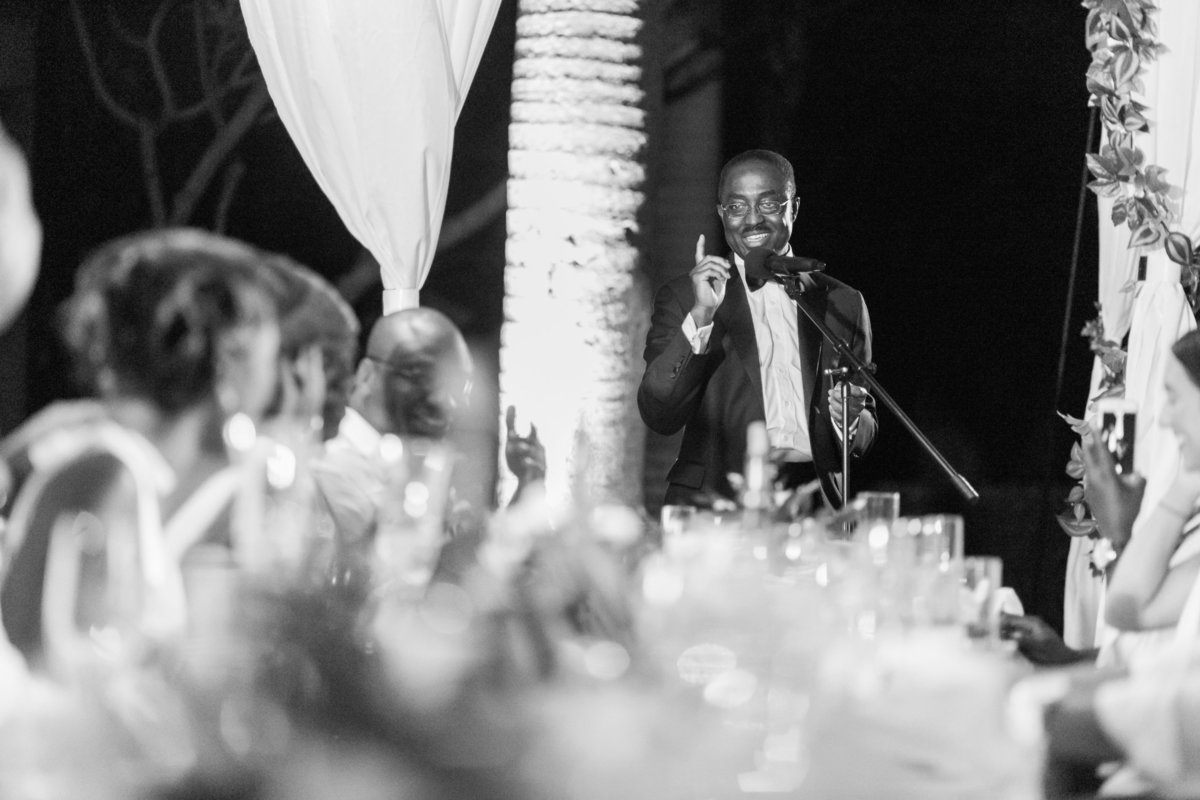 Father of the bride speech at Codrington College Barbados wedding