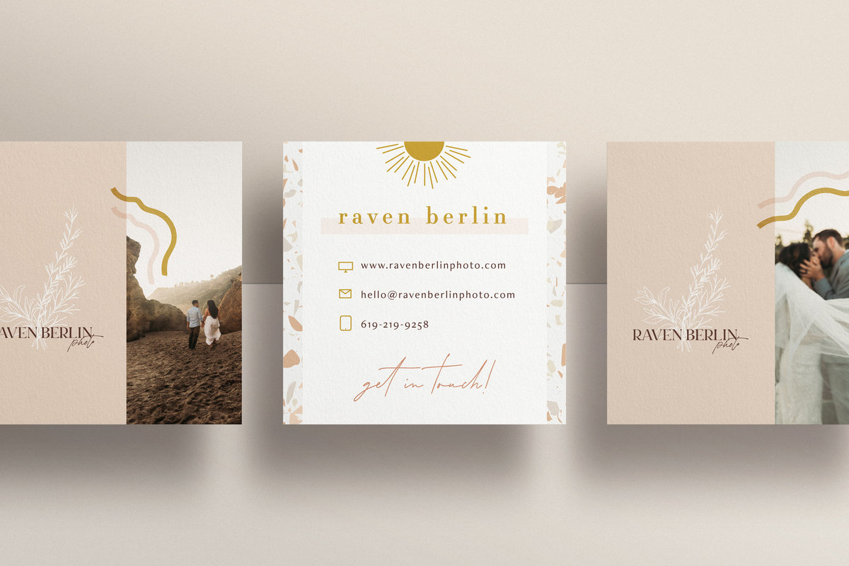 Raven Berlin Photo Business Card Mockup 3