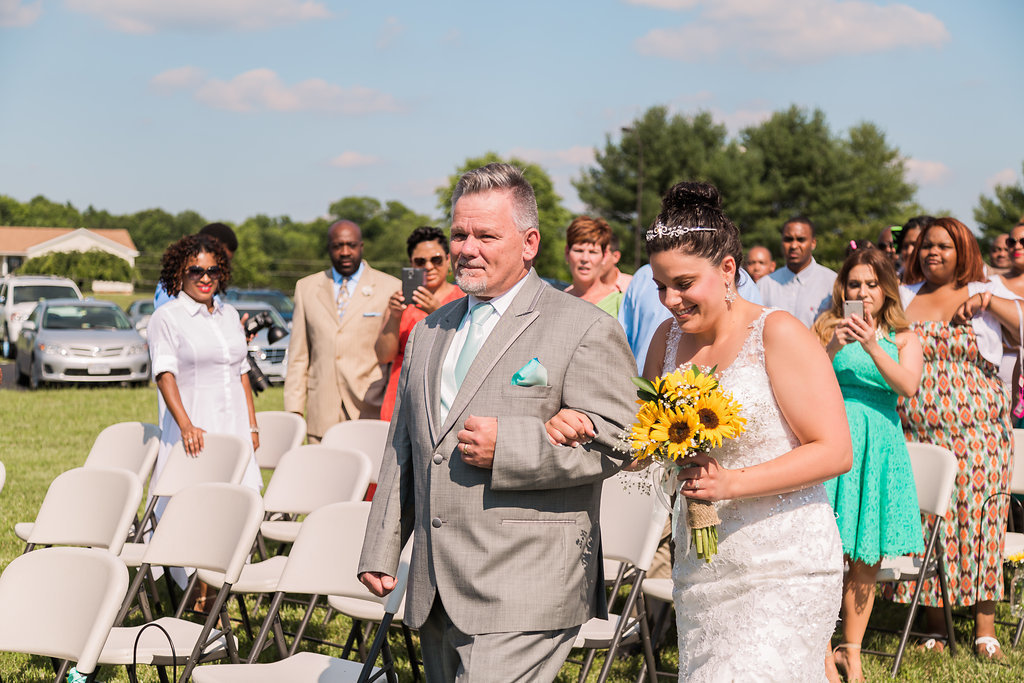A father walking his daughter down the aisle in Spotsylvania