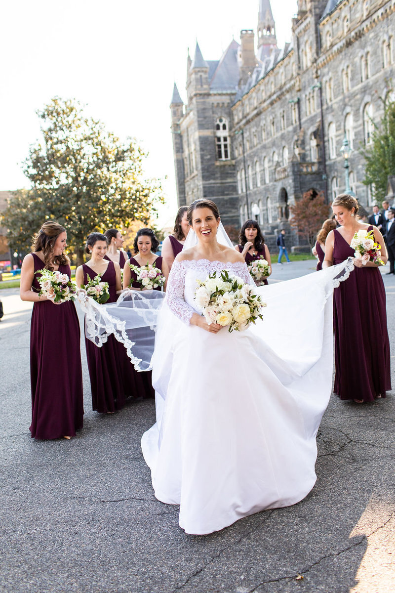 maroon-bridesmaids-helping-bride-with-dress-dc-patricia-lyons