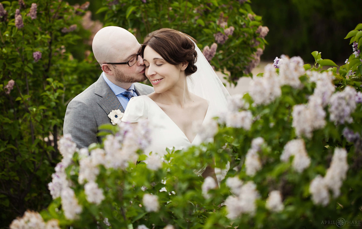 City Park Spring Wedding with Lilacs at Denver Museum of Nature and Science