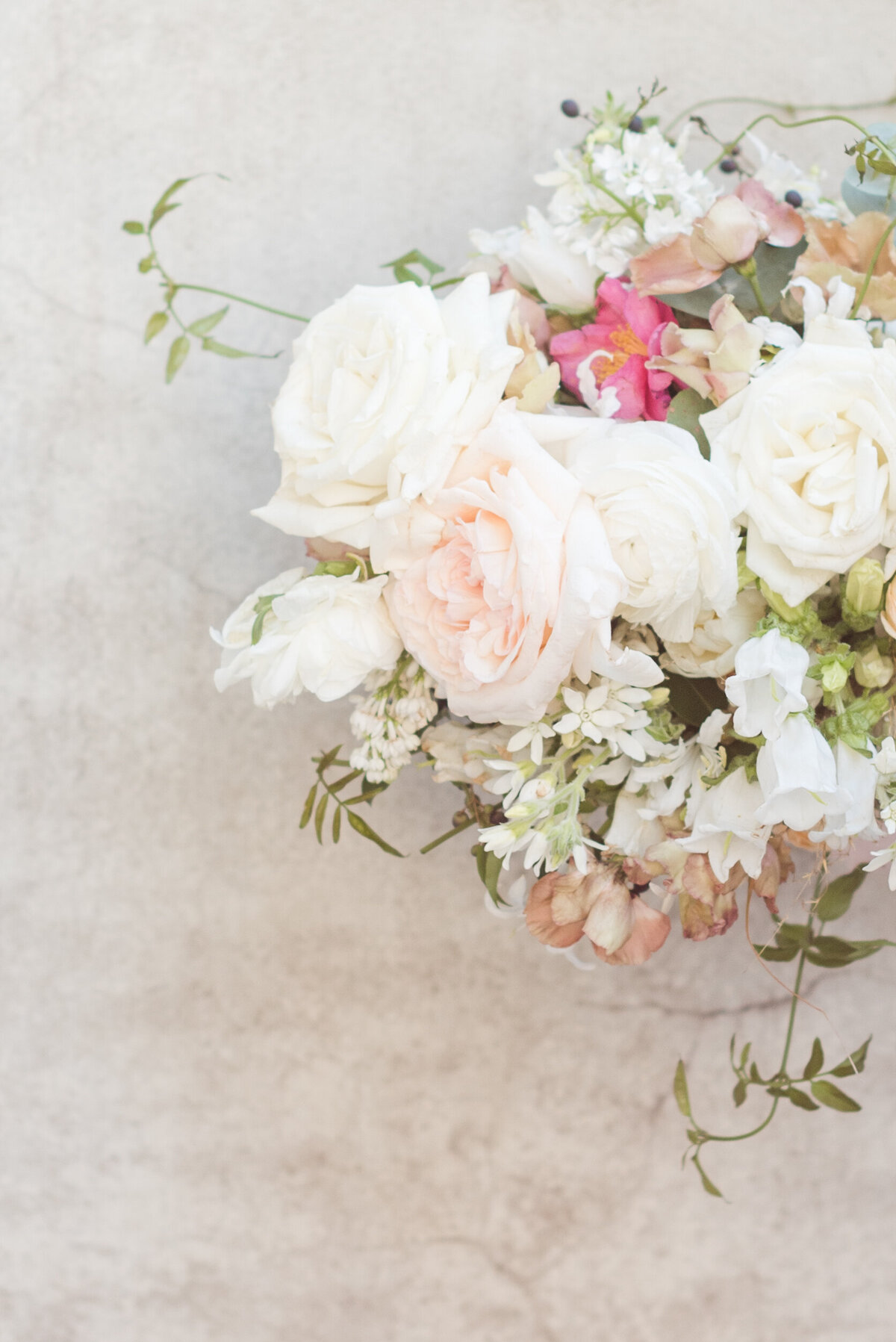 A timeless arrangement of fresh florals to create a dreamy accessory to any luxury wedding