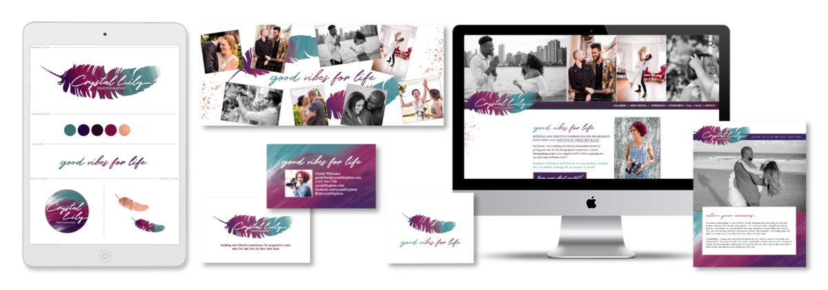 Brand and Showit Website Design for Crystal Lily Photography