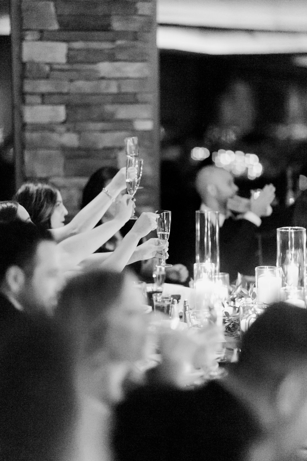 champagne toast at a wedding at Red Rock Country Club