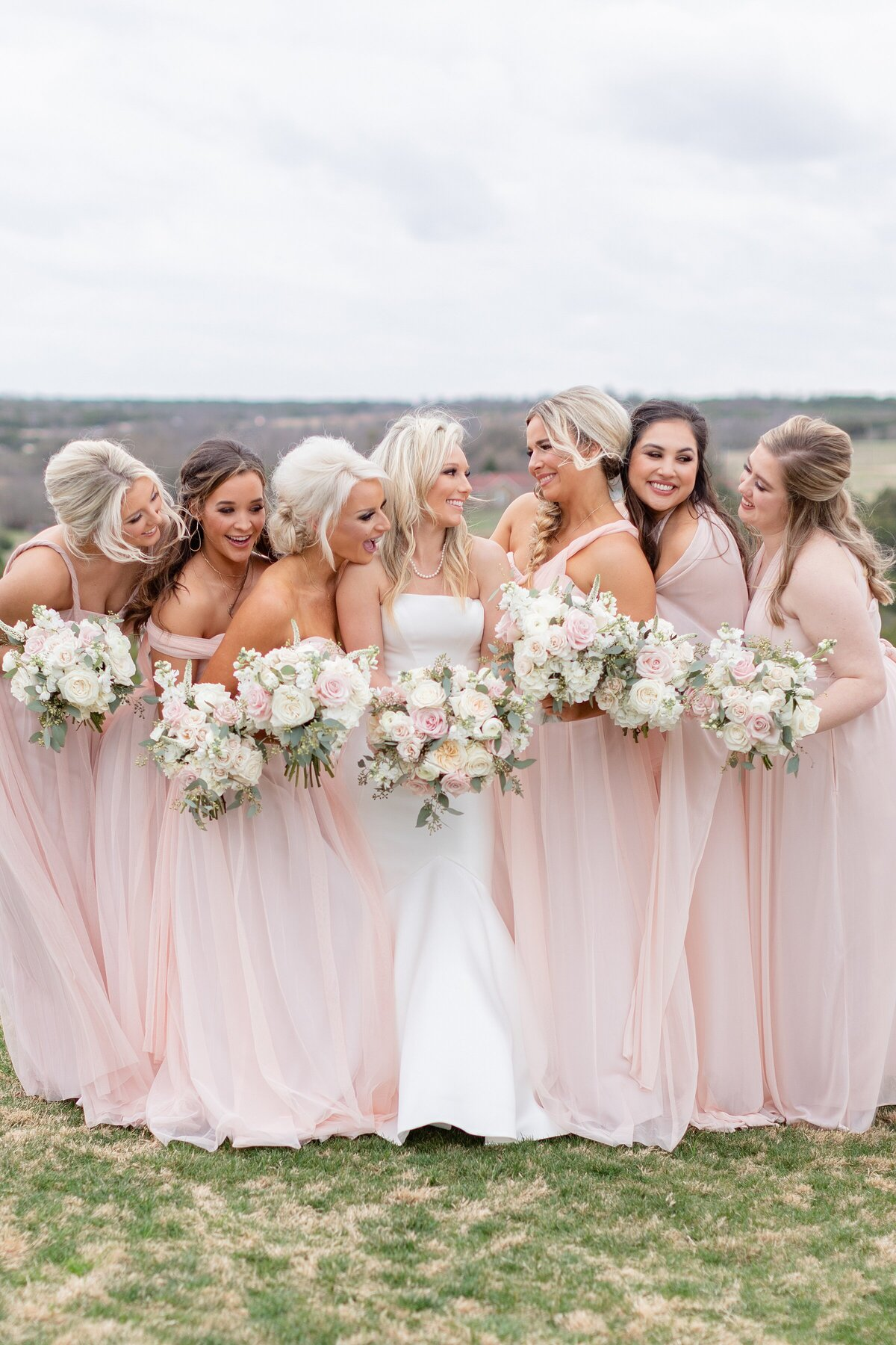 Dove Ridge Vineyard bridal party