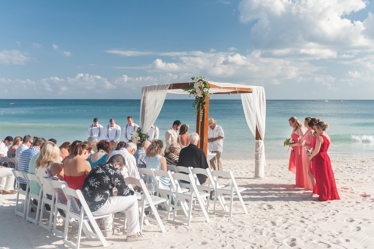 Tulum beach wedding ceremony