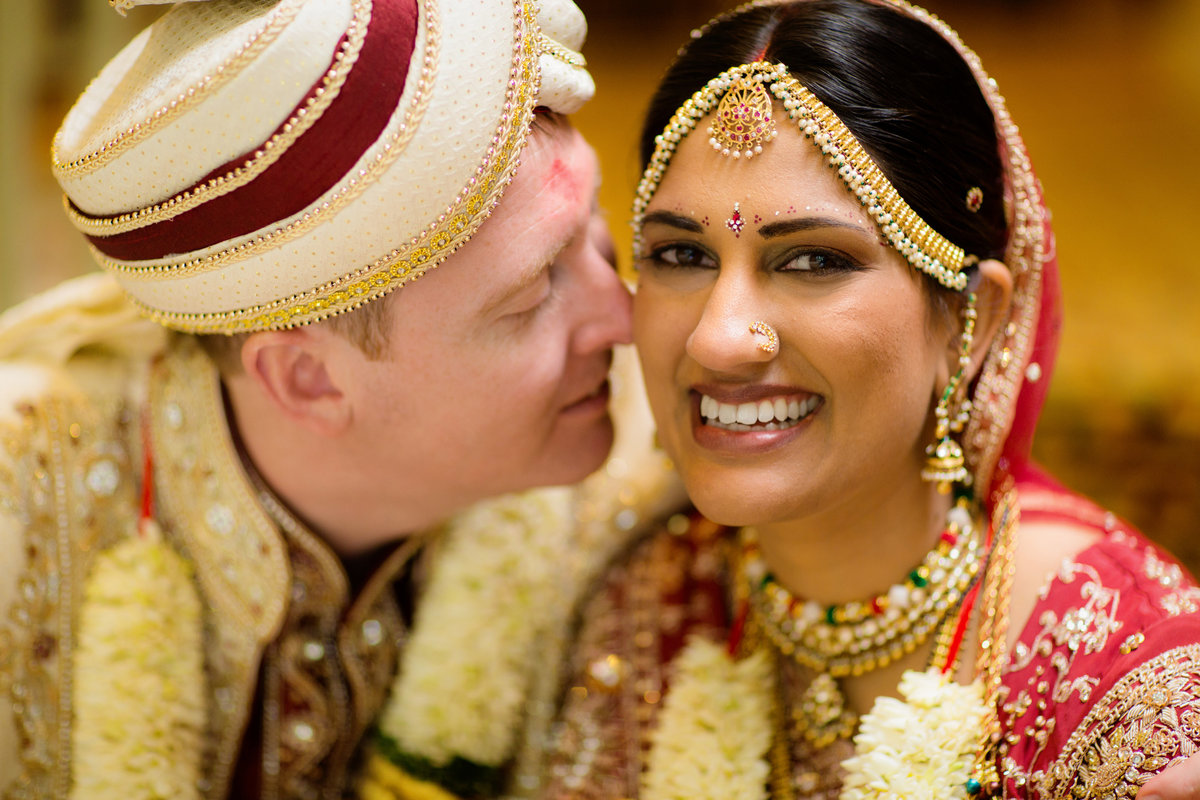 multicultural bride and groom