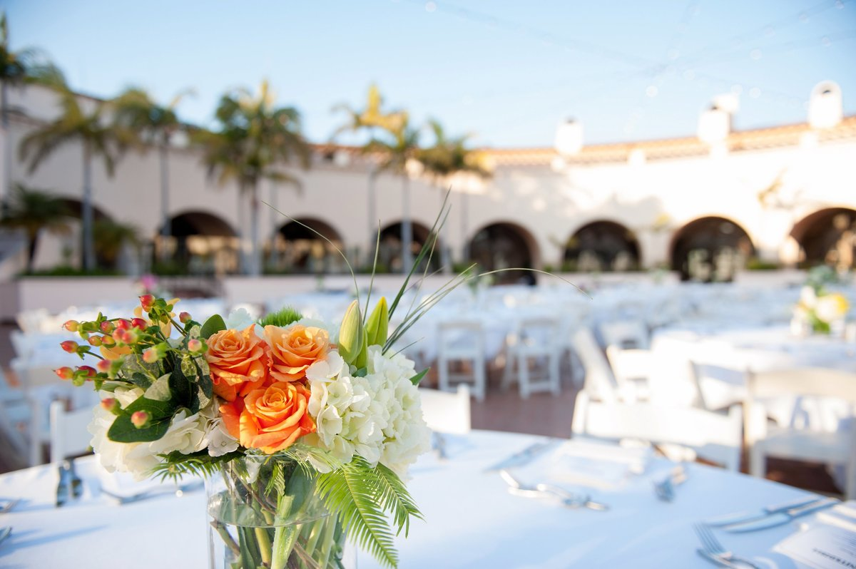Wedding details and floral centerpieces photographed by Kris Kandel