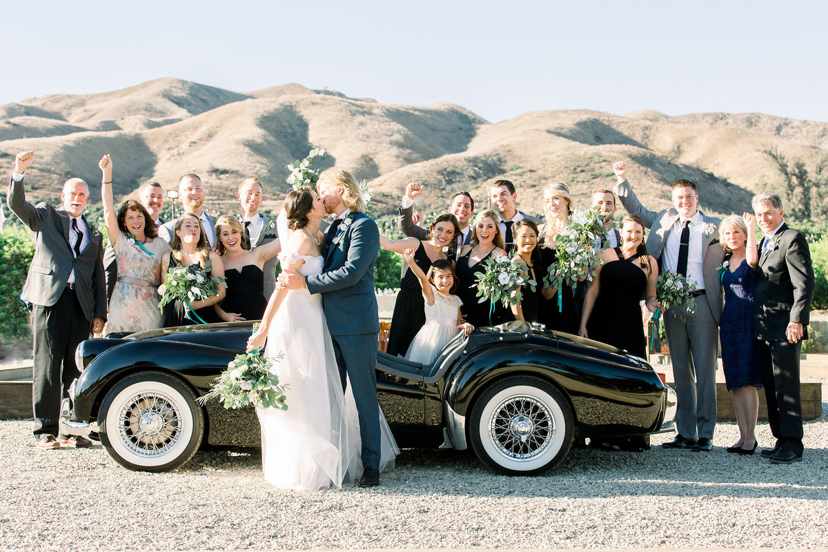 Wedding Bridal Party Photo at Limoneira Ranch