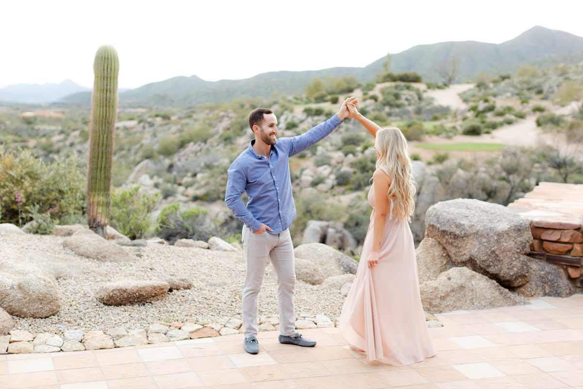 Desert Mountain Country club engagement session