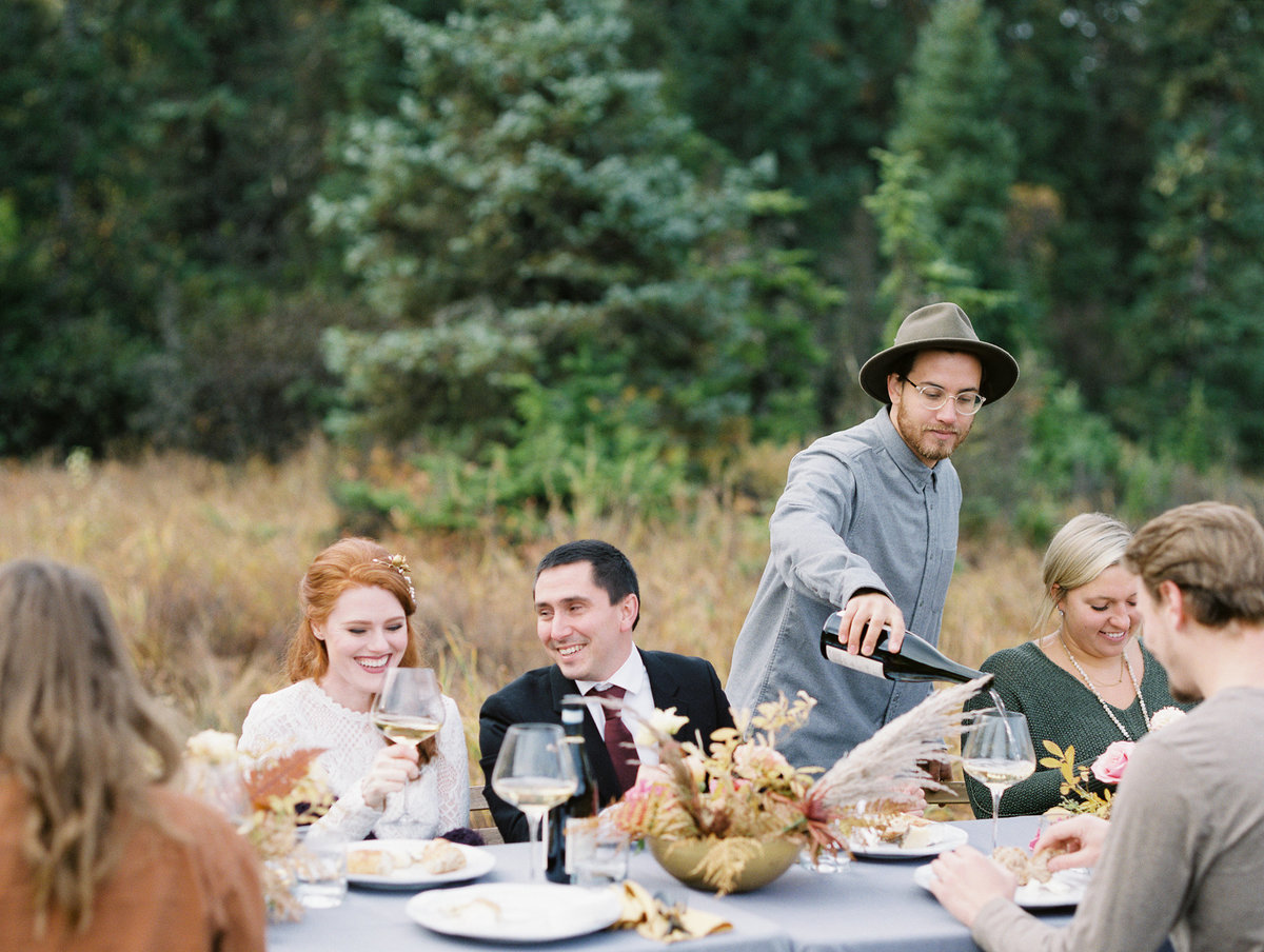 Alaska intimate wedding reception