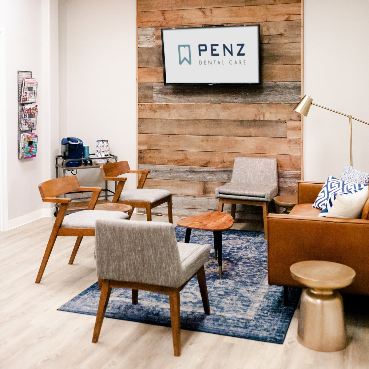 penz dental care office waiting room interior photography taryn christine